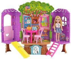 Игровой набор сестричка Барби-Челси, щенок и домик на дереве