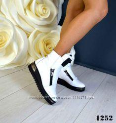 Зимние ботиночки Натуральная кожа внутри натуральный мех