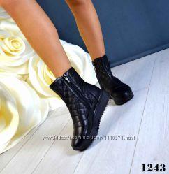 Зимние ботиночки  Натуральная кожа,  натуральный мех , хит продаж