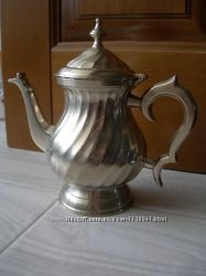 Чайник, бронза, бронзовый, посеребрение, Англия