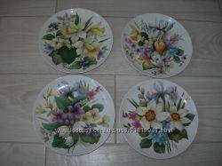 Тарелка для декора, Цветы, Kaiser, Германия, 4шт