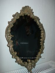 Зеркало, настенное, Путти, рама,  бронза, Германия