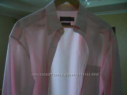 Модная рубашка розовая хлопок 100 размер ворота 42 см