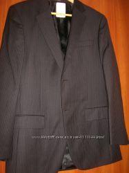 Темно-серый в полоску костюмный пиджак Alfani размер 38R 48-50