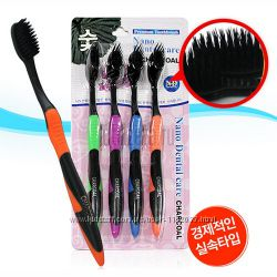 Зубные щетки с бамбуковым углем Toothbrush Nano Dental Care Charcoal