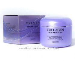 Ночной питательный крем с коллагеном Jigott collagen healing cream