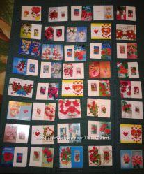Маленькие открыточки, открытки, подарок, 8 марта, 14 февраля