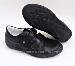 Кожаные школьные чёрные туфли ТМ D. D. Step 31, 33, 35, 36 размеры
