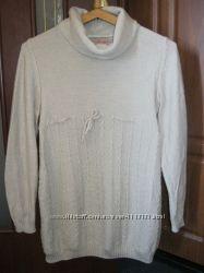 Тепленький свитерок - туника для беременных