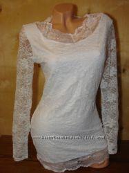 новое белое кружевное платье