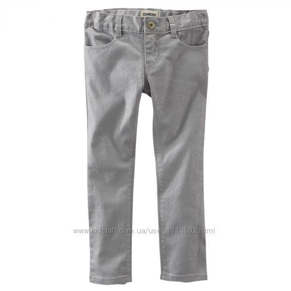 Блестящие скинни штаны. OshKosh. 4Т