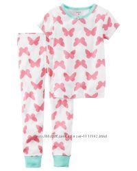 Хлопковые пижамы-двойки Carters. 2Т, 8