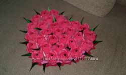 Сердце из конфет 29 цветов