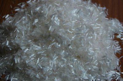Фибра полипропиленовая 6, 12 мм белая и цветная