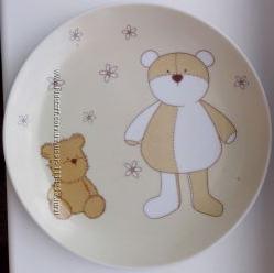 Детская тарелочка с мишками фарфор