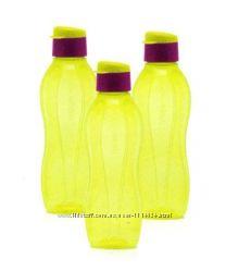 Эко-Бутылка 750 мл в желтом цвете с клапаном