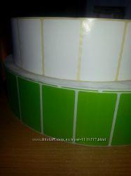 Самоклеющиеся стикеры, 100 штук. Белые, зелёные и горчичные