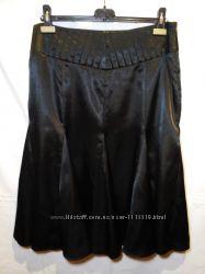 Шелковая нарядная миди юбка годе