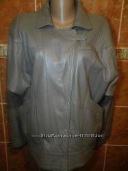 Кожаная куртка на патенте рукав летучая мышь