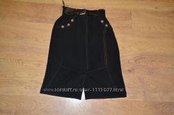 Элегантная черная юбка р. 50-52 наш Распродажа