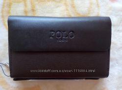 Клатч барсетка из натуральной кожи мужской мультитул-карточка в подарок