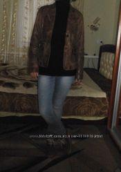 натуральная кожаная куртка градиент