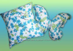 Комплект подарочных подушек Бабочка цветы 2шт