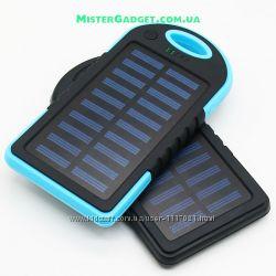 Внешний аккумулятор для телефона с фонариком. Солнечный Solar Power bank
