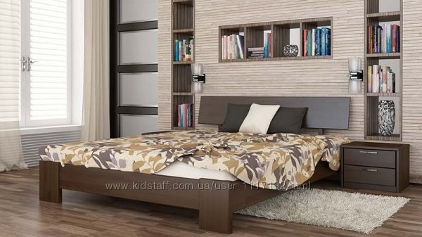Кровать деревянная Титан из натурального Бука Высокого качества с Доставкой