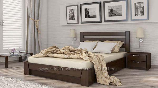 Кровать Селена из натурального дерева Бук с подъемным механизмом Доставка