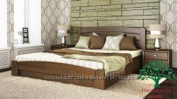 Кровать с подъемным механизмом Селена Аури из натурального дерева Бук