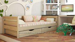 Кровать Нота детская, подростковая из натурального дерева Бук