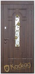 Дверь входная металлическая со стеклом Каскад модель Лиана