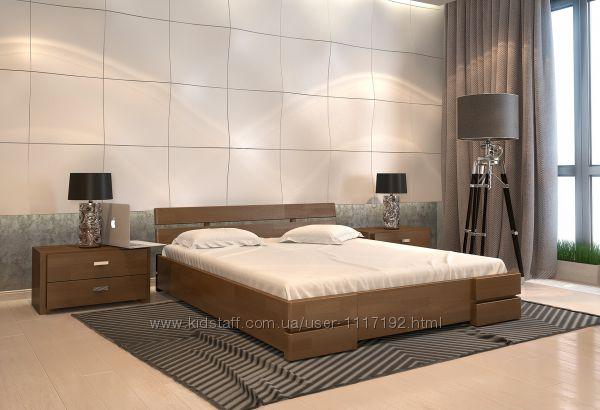 Деревянная кровать Дали из сосны или бука, полуторная, двуспальная Акция
