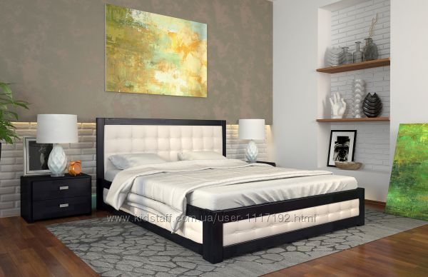 Кровать деревянная с подъемным механизмом Рената М бук, сосна Скидка