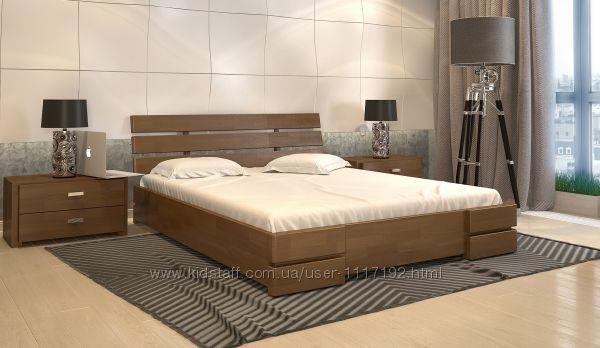 Кровать деревянная с подъемным механизмом Дали Люкс 160х200 180х200