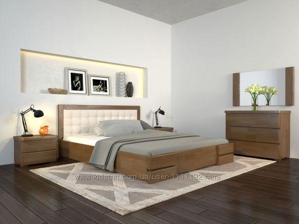 Кровать из дерева сосна, бук Регина Люкс с подъемным механизмом Скидка
