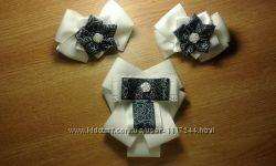 Набір для школи резинки галстук брош