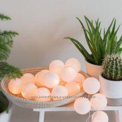 Хлопковая LED-гирлянда White 35 шариков