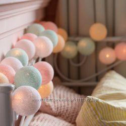 Тайская LED-гирлянда Pastel 35 шариков