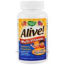 iHerb. Детские жевательные витамины Alive, 120 шт, Айхерб.
