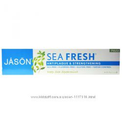 IHerb. Jason Natural, Sea Fresh, укрепляющая зубная паста, 170 гр, Айхерб.