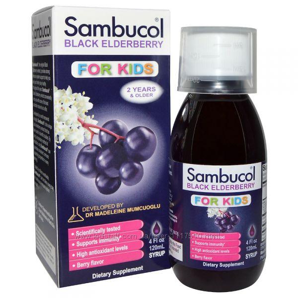 iHerb. Sambucol, Чёрная бузина, Поддержка иммунной системы, для детей, сиро