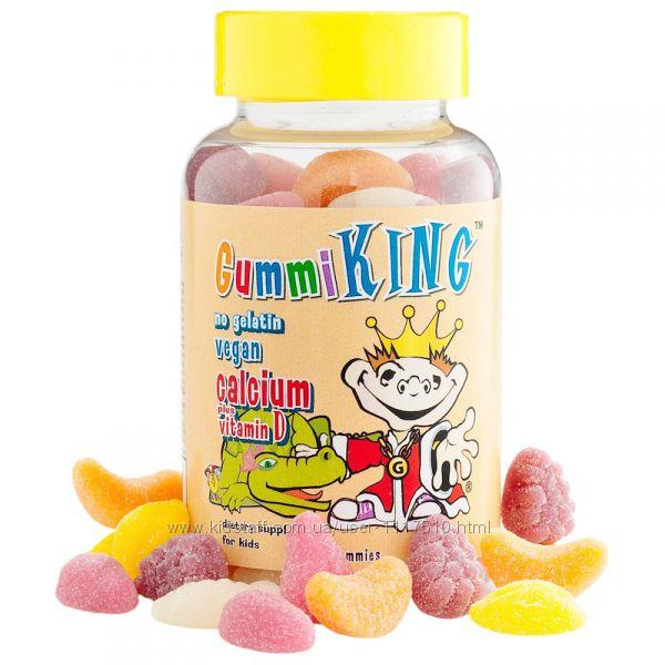 iHerb. Gummi King, кальций с витамином D для детей, 60 жевательных конфет.