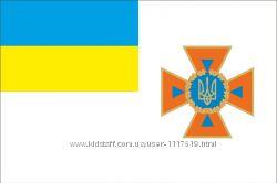 Прапор ДСНС України. МНС. Флаг ГСЧС Украины. МЧС.