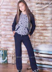 Спортивный костюм для девочки размеры 32-38 128-152см, трикотаж-двунитка