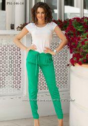 Льняные брюки PS1-146, размеры 42-52