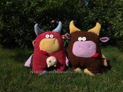 Игрушка подушка Корова, ручная работа, handmade