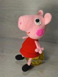 свинка пеппа и джордж игрушка вязаная крючком ручная работа