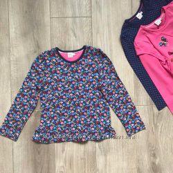 Блузки, лонгсливы для девочек, Англия, 4-5 и 5-6 лет, В наличии
